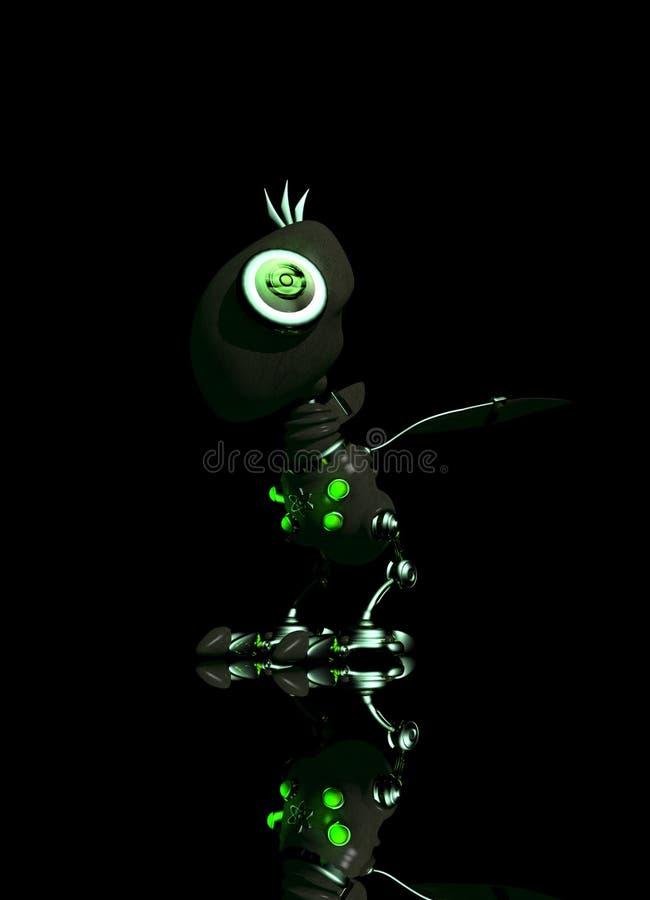 Robot Bird In Dark Royalty Free Stock Photography