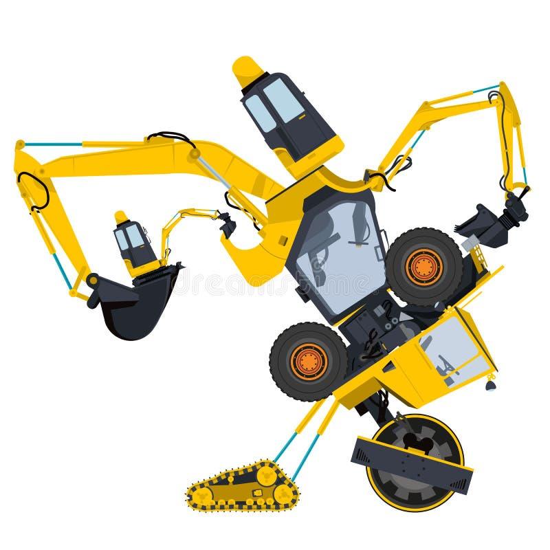 Robot bizarre de machine illustration stock