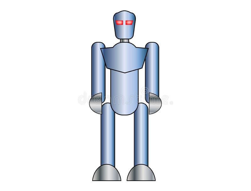 Robot bleu sur le fond blanc illustration libre de droits