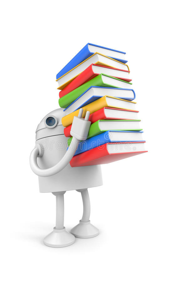 Download Robot With Books Royalty Free Stock Photography - Image: 16723277