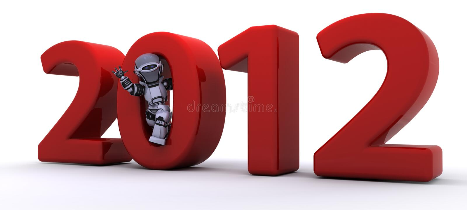 Download Robot Bringing The New Year In Stock Photography - Image: 21989392