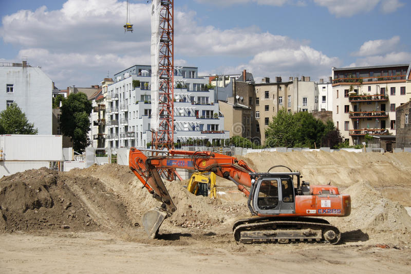 Robot budowlany w Berlin obraz stock