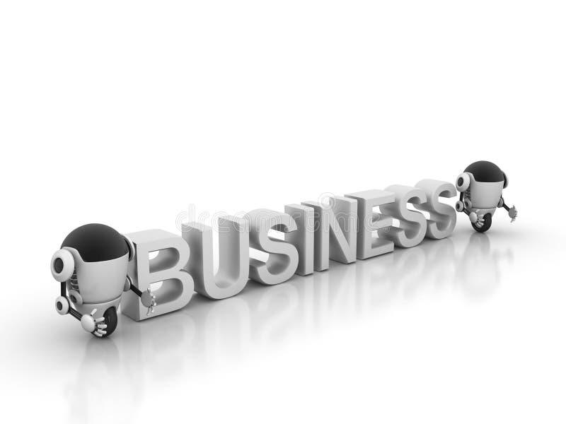 Robot business graph stock illustration