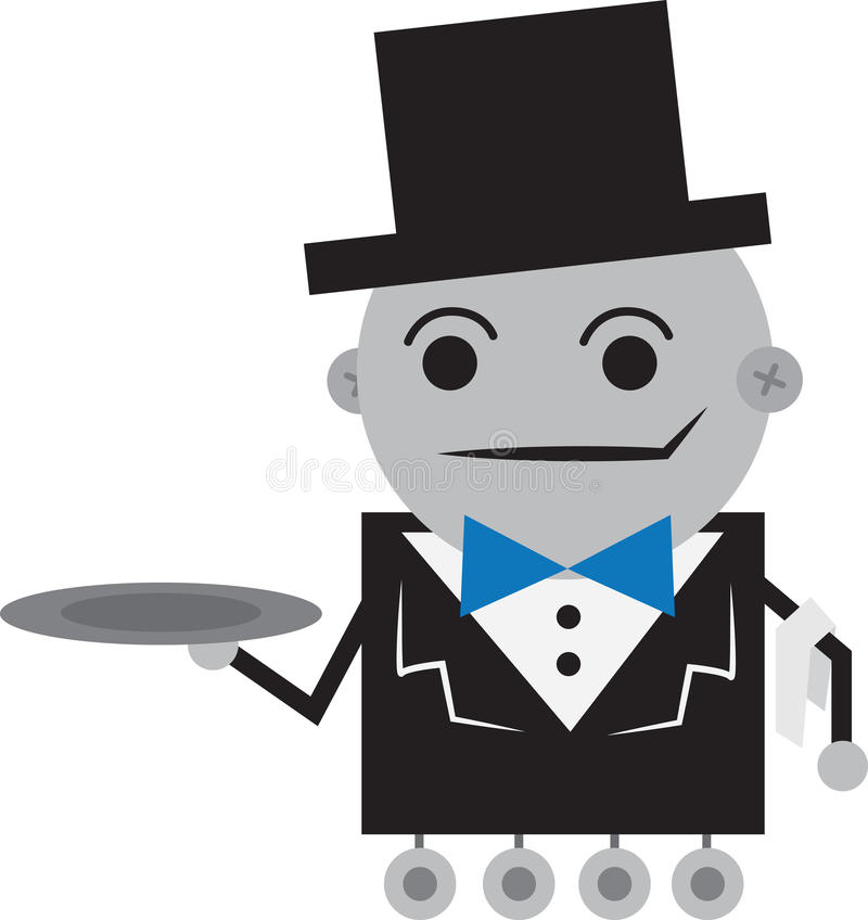 Download Robot Butler stock vector. Illustration of isolated, iron - 24065858