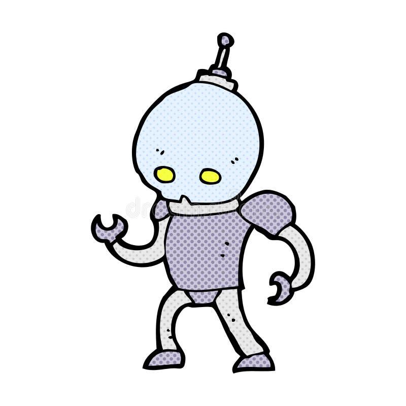 robot cómico del extranjero de la historieta stock de ilustración