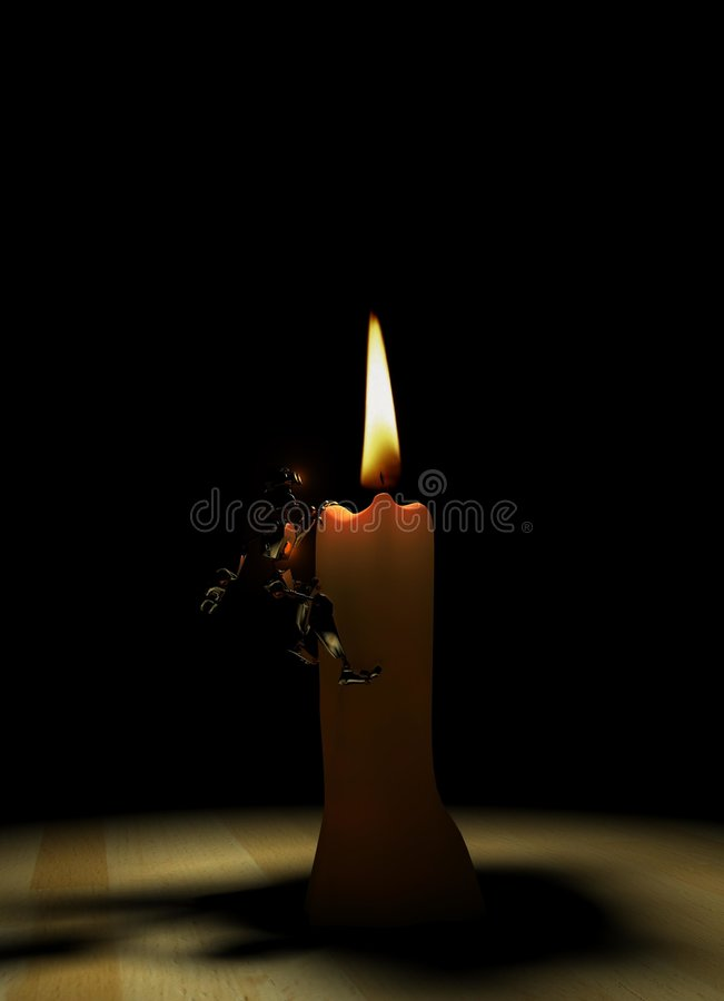 Download Robot and candle stock illustration. Image of lights, flames - 7504346