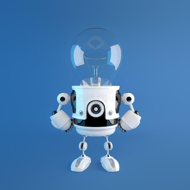 Robot capo della lampadina royalty illustrazione gratis