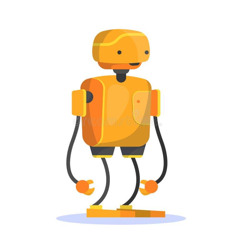 Robot, carácter futurista del color anaranjado Idea de la automatizaci?n ilustración del vector