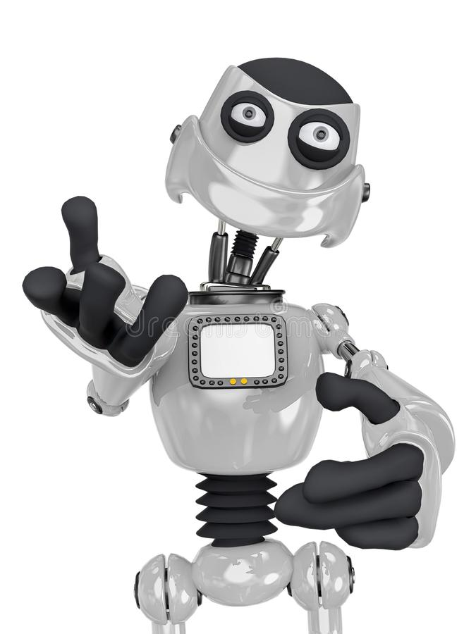 Free Robot Cartoon Explaining Royalty Free Stock Photo - 160873235
