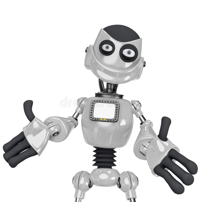 Free Robot Cartoon In Come On Give Me A Hug Royalty Free Stock Images - 160873229