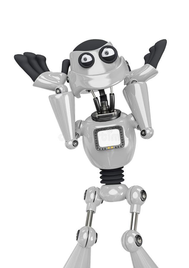 Free Robot Cartoon Is So Happy Stock Image - 160873231