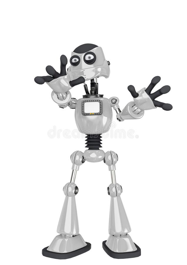 Free Robot Cartoon Saying Hey Stop There Royalty Free Stock Photo - 160873275