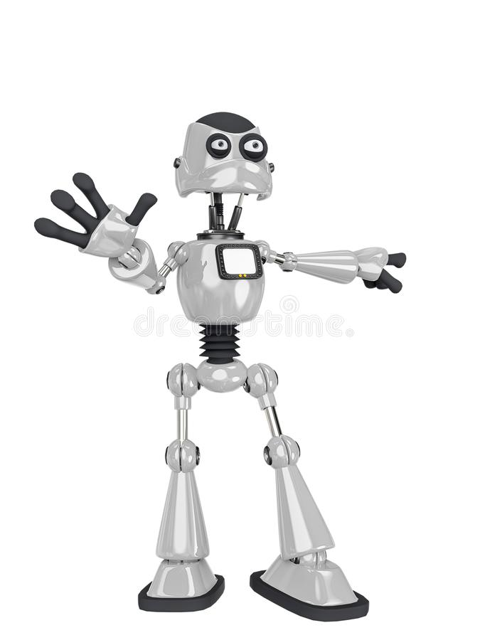 Free Robot Cartoon Saying It Was Not Me Royalty Free Stock Photography - 160873267