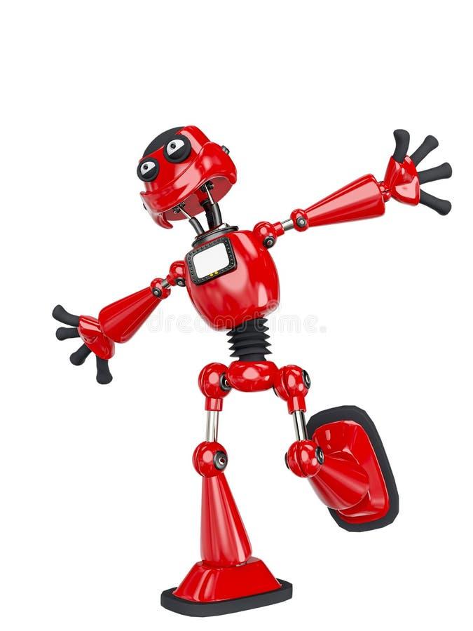 Robot cartoon is vrij royalty-vrije illustratie
