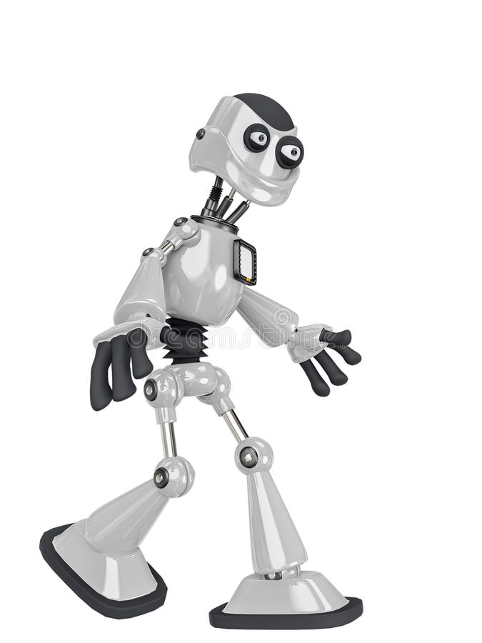 Free Robot Cartoon Walking Stock Photos - 160873273