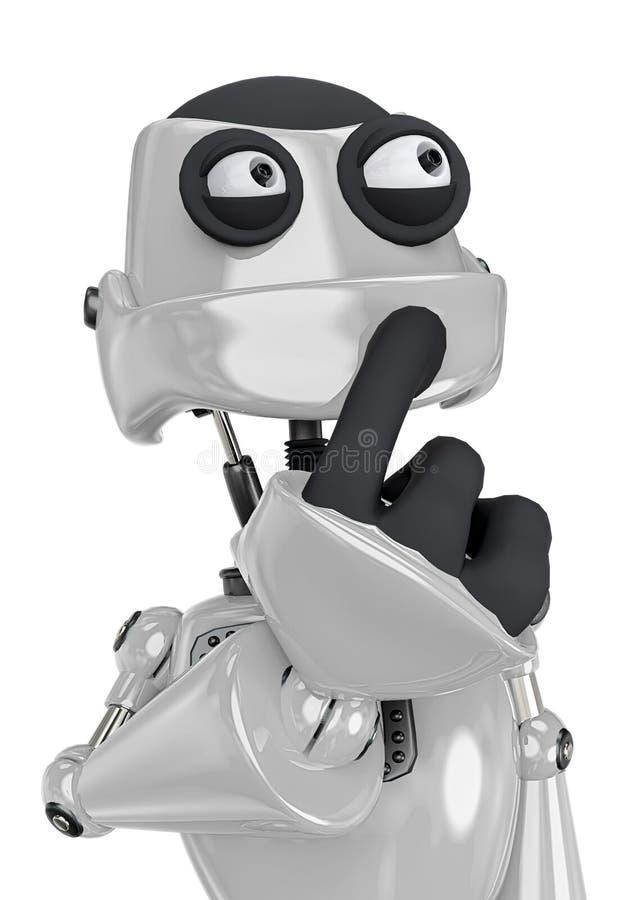 Free Robot Cartoon Worried Royalty Free Stock Image - 160873266