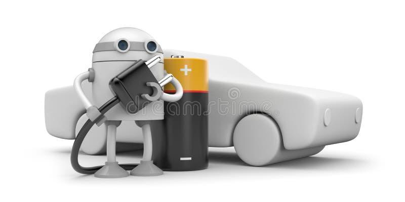 Download Robot Charging Electric Vehicle Stock Illustration - Image: 25594995