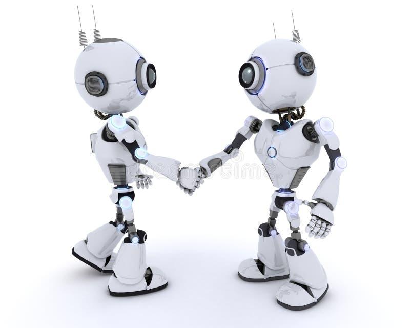 Robot che agitano le mani royalty illustrazione gratis