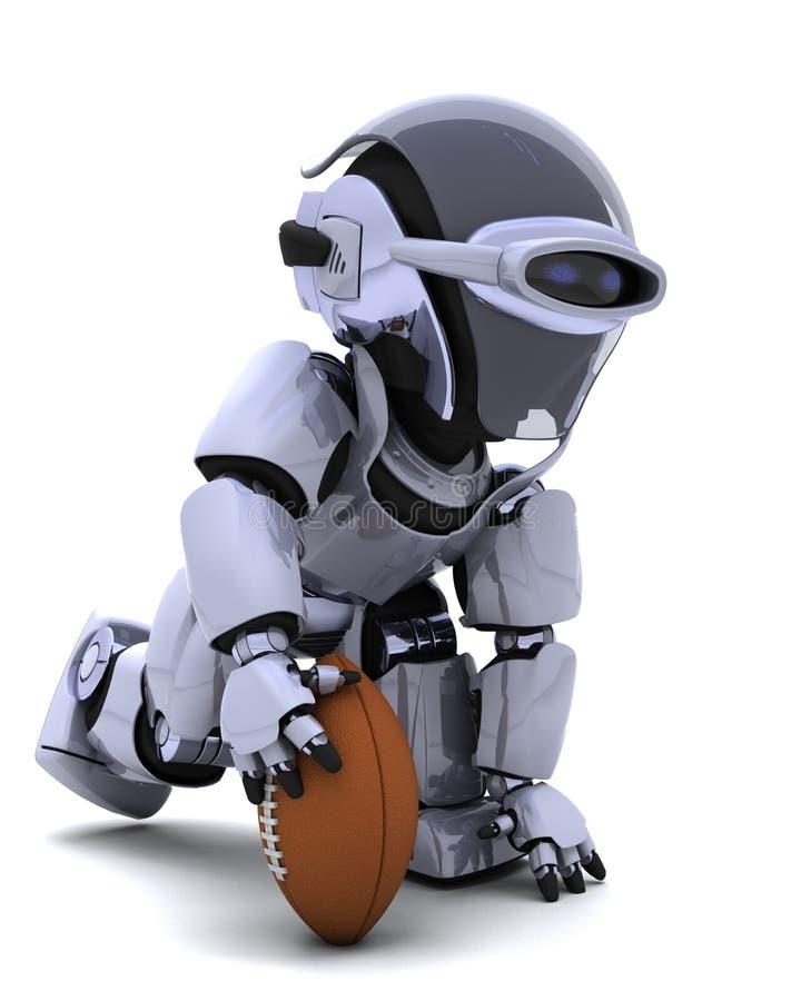 Robot che gioca football americano illustrazione vettoriale