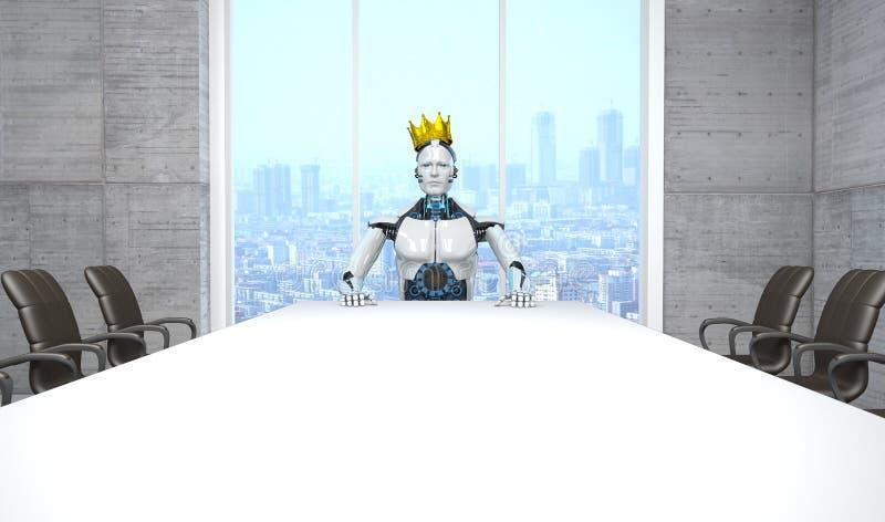 Robot Chef- King stock illustratie