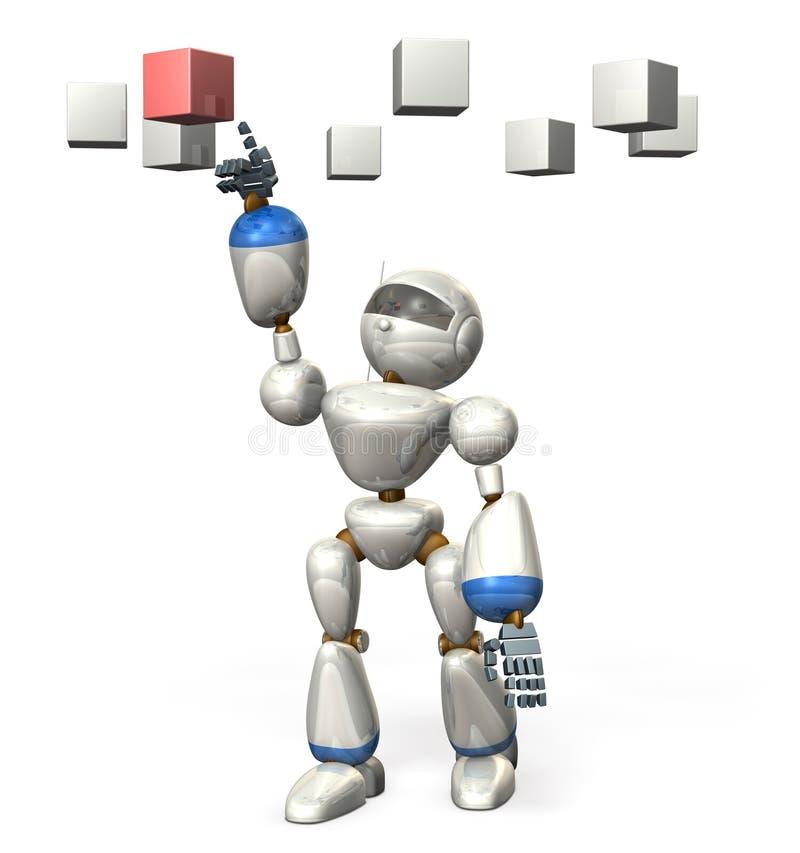 Download Robot choose it . stock illustration. Illustration of determination - 34700655