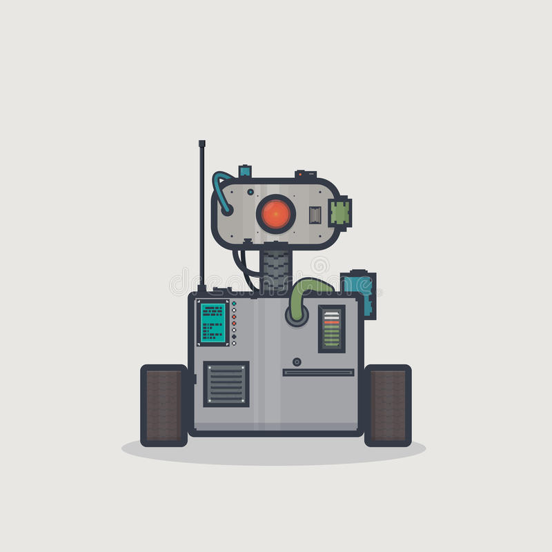 Robot classico della scatola illustrazione di stock