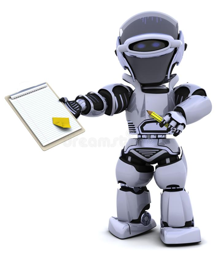 Download Robot With Clipboard Stock Photography - Image: 16098752