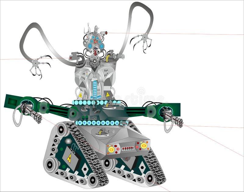 Robot como tecnología de nuestro tiempo stock de ilustración
