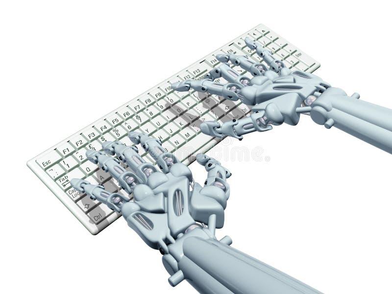 Download Robot computer stock illustration. Illustration of connect - 27047127
