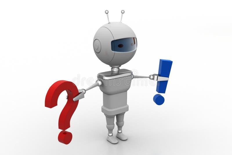 Robot con concepto de la solución de problemas stock de ilustración