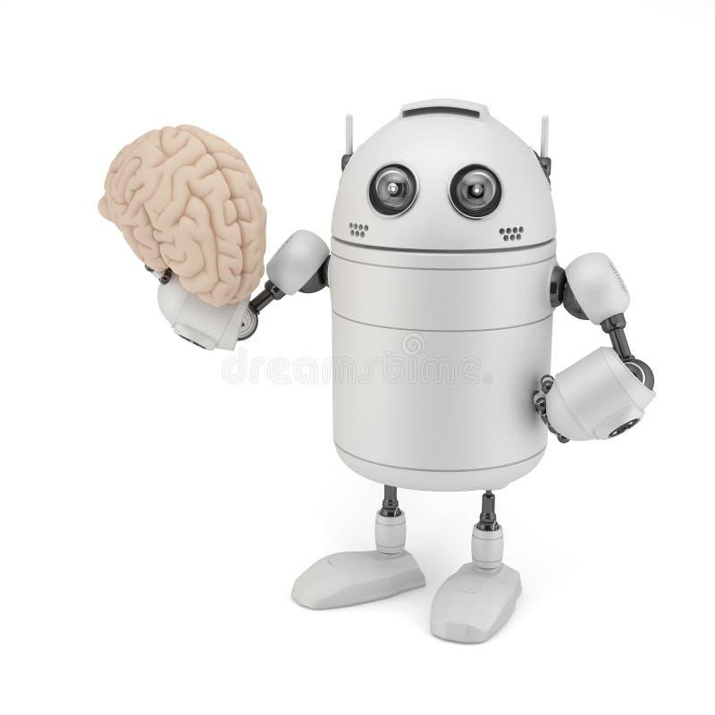 Robot con il cervello. royalty illustrazione gratis