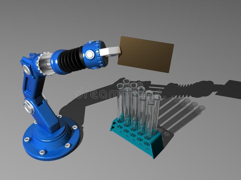 Robot con il prova-tubo royalty illustrazione gratis