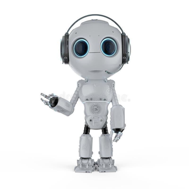 Robot con la cuffia avricolare royalty illustrazione gratis