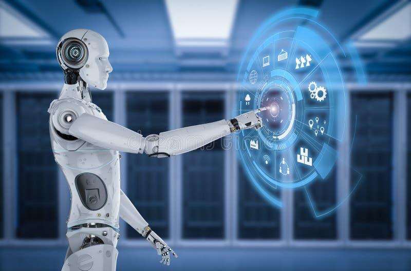 Robot con la exhibición del hud libre illustration