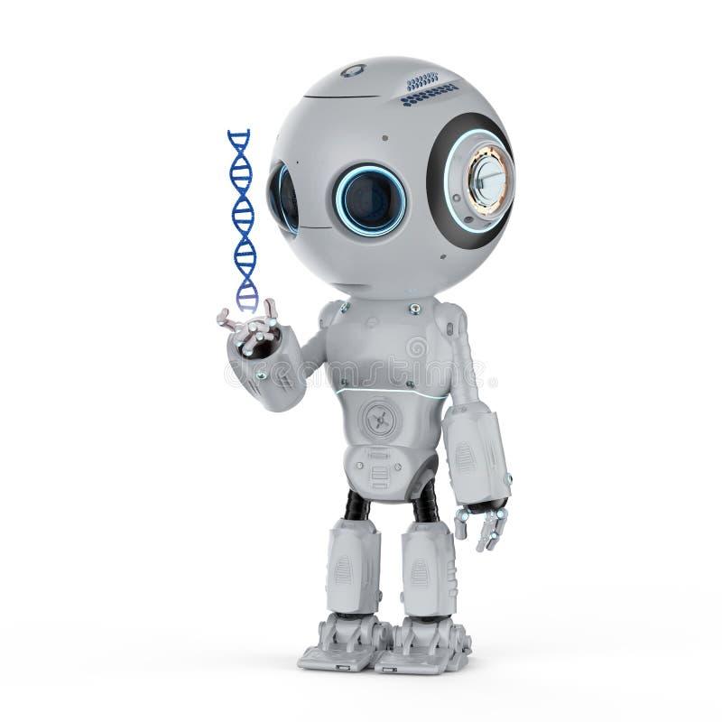 Robot con la hélice de la DNA libre illustration