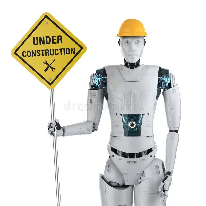 Robot con la muestra inferior de la construcción