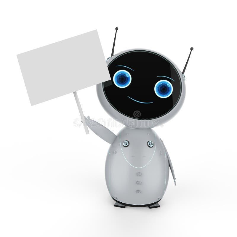 Robot con la nota vacía