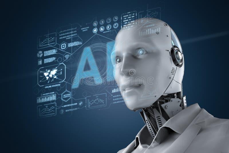 Robot con la representación gráfica