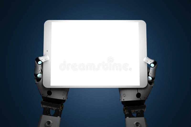 Robot con la tablilla