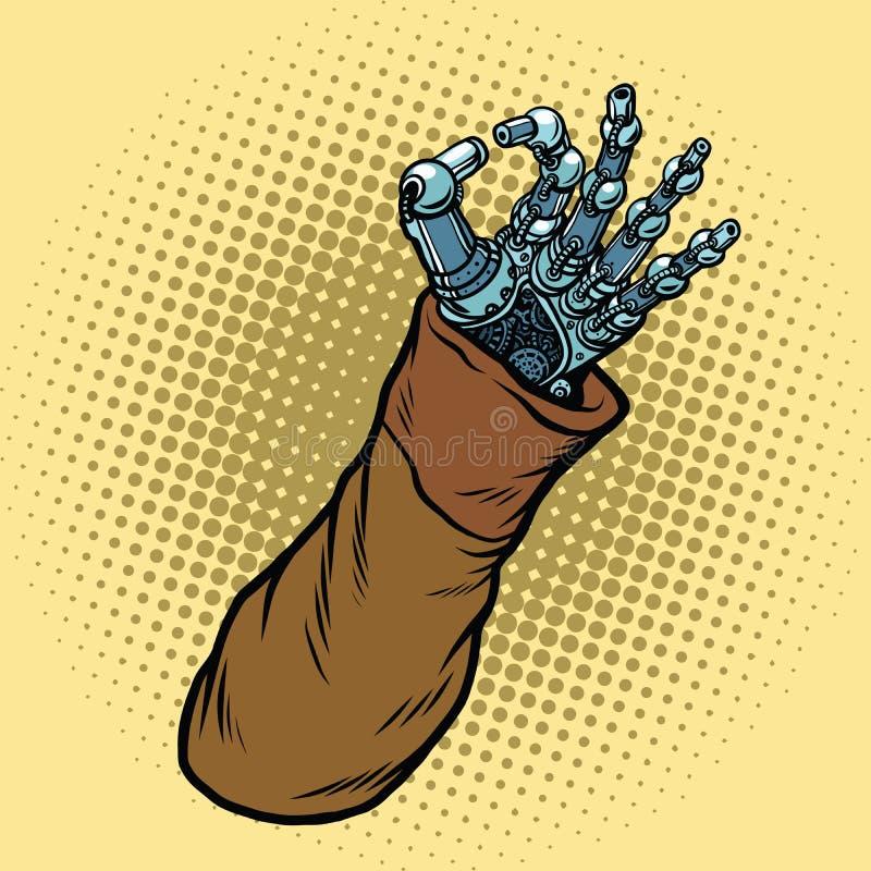 Robot correct de geste de main illustration libre de droits