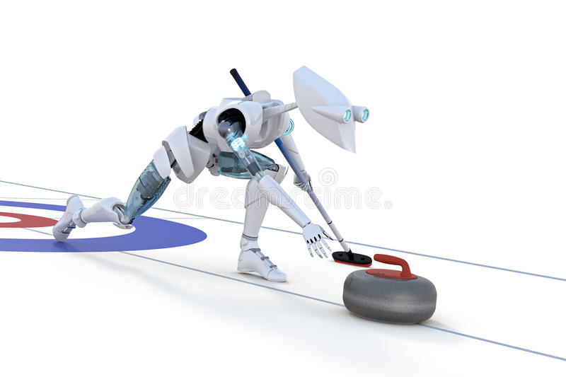 Robot Curling stock images