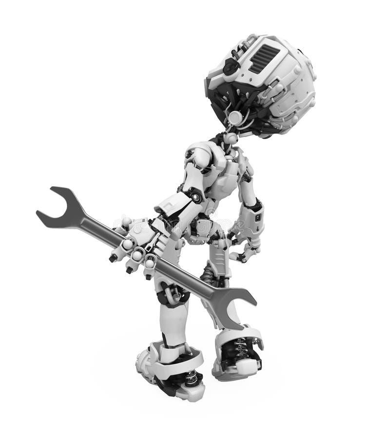 Robot d'écran bleu, clé illustration libre de droits