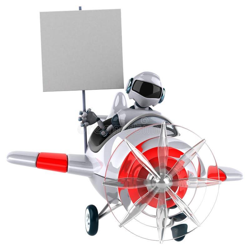 Robot d'amusement illustration stock