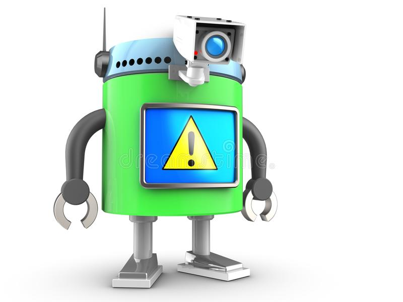 robot 3d au-dessus de blanc illustration libre de droits