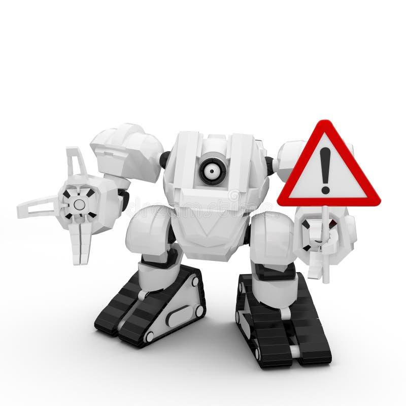 robot 3D con la muestra libre illustration