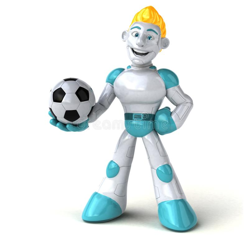 Robot - 3D Illustration royalty free illustration