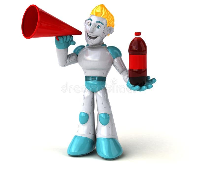 Robot - 3D Illustration stock illustration