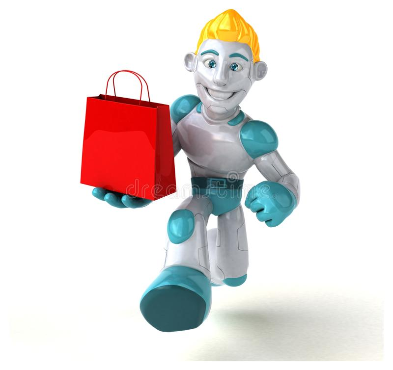 Robot - 3D Illustration stock illustration