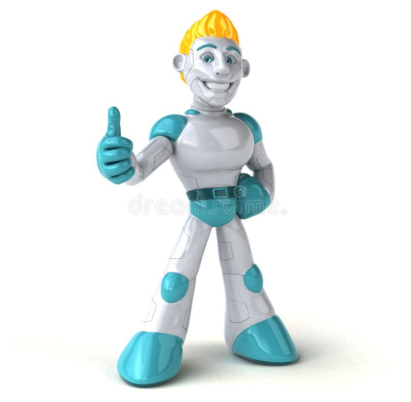 Robot - 3D ilustracja royalty ilustracja