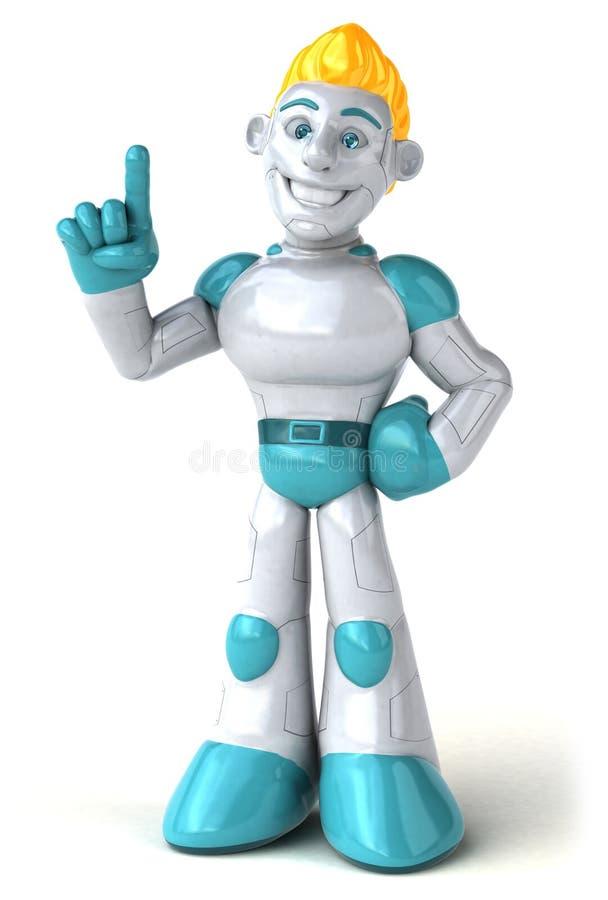 Robot - 3D ilustracja ilustracji